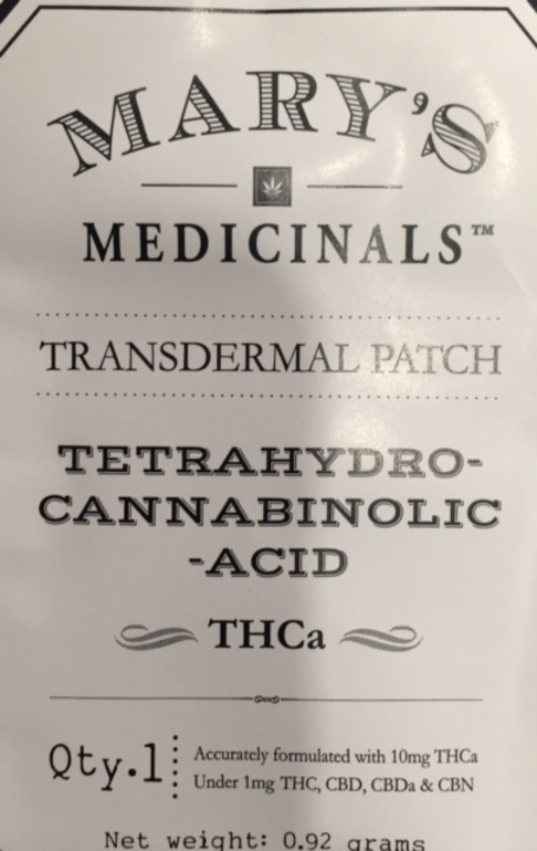 Mary's Medicinal THCa Patch